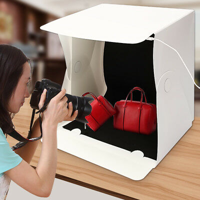 "16"" Portable Mini Light Room Photo Studio Photography Lighting Backdrop Cube Box"