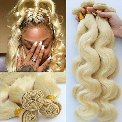 #613 Blonde Body Wave 100% Brazilian Human Hair Extension Weave Hair Weft