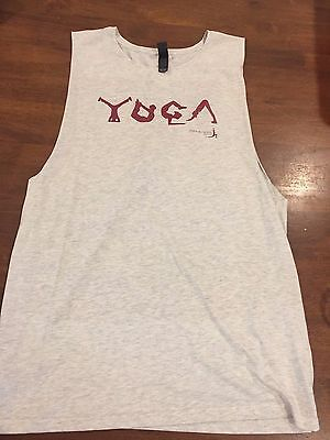 New Men's Yoga Gym Singlet Tank Top size Large