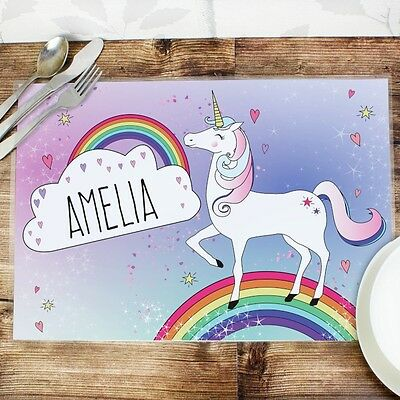 Personalised Childrens Placemat - Unicorn.