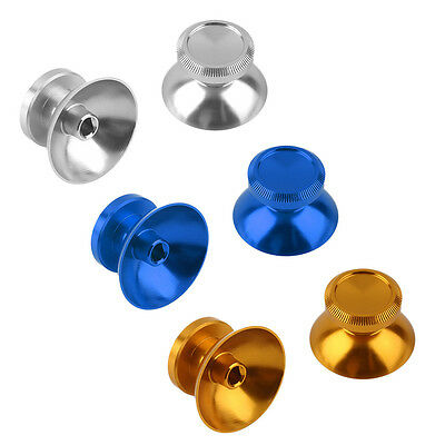 2 x Aluminum Alloy Metal Analog Thumbstick Cap For PS4 Xbox One Controller   YU