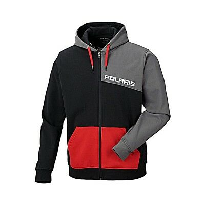 OEM Polaris Black Red Grey Color-Blocked Hoody Hoodie Sweatshirt Sizes S-3XL