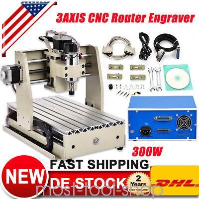 3AXIS 3020T CNC Router 300W Engraver Machine Engraving Drilling Milling Spindle