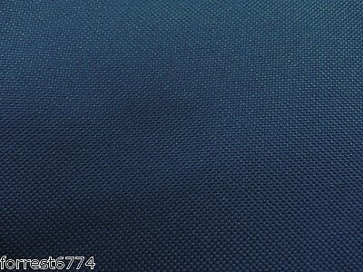 Waterproof Heavy Dark Blue Canvas Fabric Folded Pu Back X 10Mtr -Tracking Number