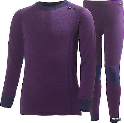 HELLY HANSEN Warm Infants Purple Merino Wool 2 Piece Baselayer Set 18-24M BNWT