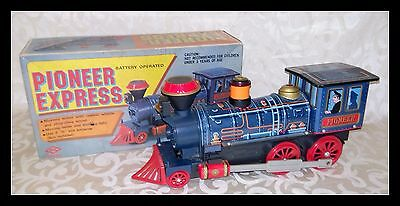 Skk - Pioneer Express - Lok - Lokomotive Aus Blech - Made In Japan - 60Er Jahre