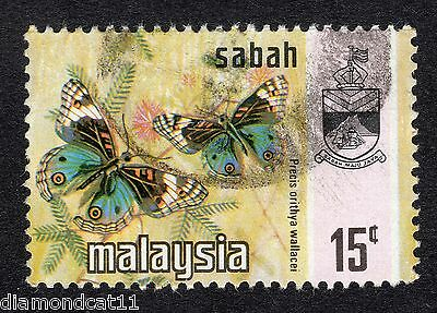 1971 Sabah 15c Butterfly SG437 VERY GOOD Used R16782