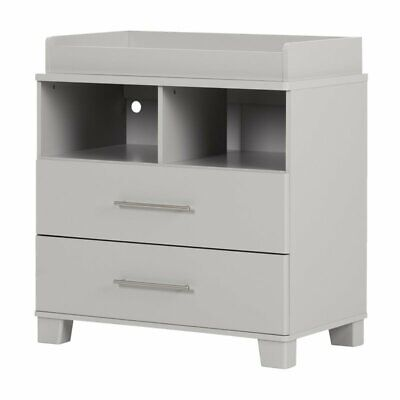 South Shore Cuddly 2 Drawer Dresser in Soft Gray