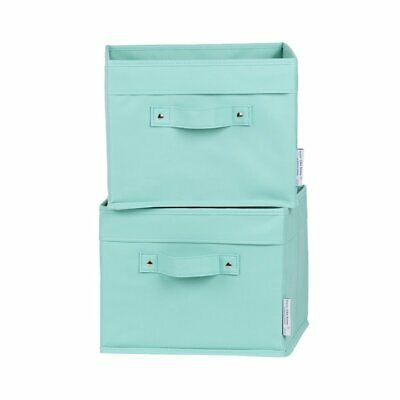 South Shore Storit Polyester Baskets in Turquoise (Set of 2)