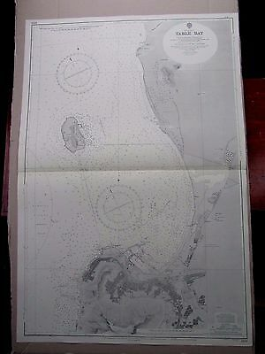"""1966 TABLE BAY South Africa CAPE TOWN - Nautical Sea Map Chart 28"""" x 41"""" B10"""