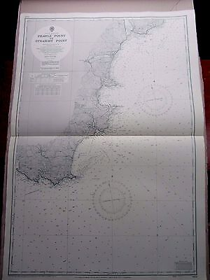 """1955 PRAWLE POINT to STRAIGHT POINT Nautical Admiralty Map Chart 28"""" x 41"""" A16"""