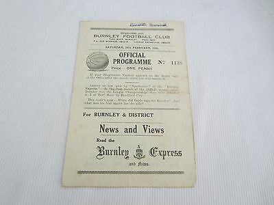 1944-45 LEAGUE NORTH BURNLEY v PRESTON NORTH END