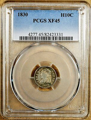 1830 LM-8 PCGS XF45 Bust Half Dime
