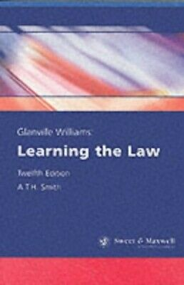 Learning the Law by Smith, A.T.H. Paperback Book The Cheap Fast Free Post