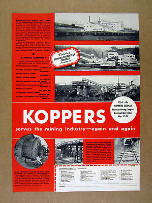 1937 Pittsburgh Coal Co Champion 1 4 5 Plants photo Koppers Mining Equipment Ad
