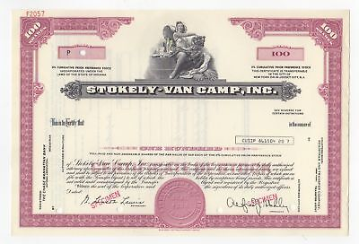 SPECIMEN - Stokely-Van Camp, Inc. Bond