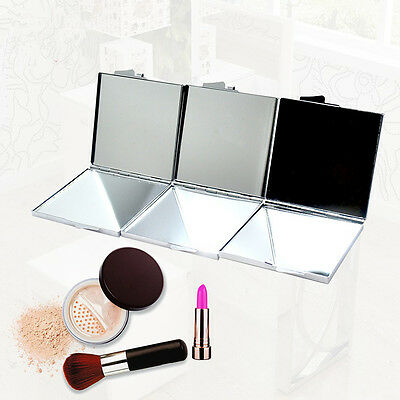 New Portable Metal Square Cosmetic Make Up Mirror