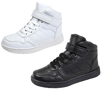 Kids Hi Tops Boys Girls Trainers Ankle Boots Lace Up School Sports Shoes Size