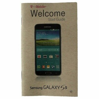 Original Welcome Start Guide from T-Mobile for the Samsung Galaxy S5 Smartphone