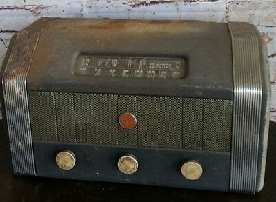 Vintage Rca Coin Operated Hotel Tube Radio Model M1-13174 Parts/repair