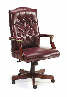 executive wingback traditional office chair button tufted style wood