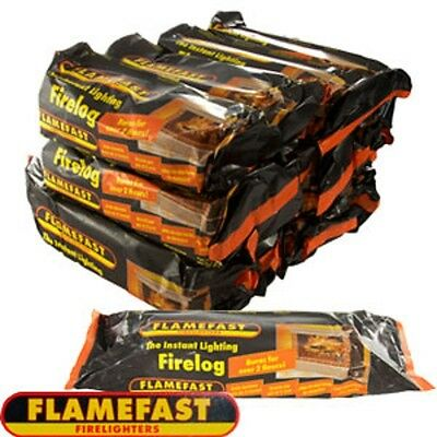 Flamefast Logs Instant-Light Smokeless Fire  Burns For 2-3 Hours Flame Fast