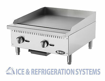 """Atosa 24"""" Commercial Countertop Gas / Propane Heavy Duty Griddle ATMG-24"""