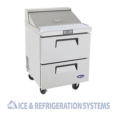 "Atosa 27"" Commercial Two Drawer Salad & Sandwich Prep Table Cooler MSF8309"