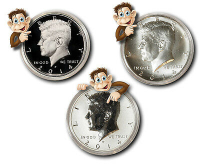 2014-P, D & W 90% Silver Kennedy 50th Anniversary - 3-Coin Set - BACK IN STOCK!