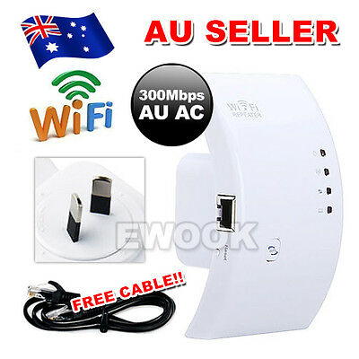 300Mbps Wifi Repeater Wireless 802.11N Network Signal Extender Booster AU Plug