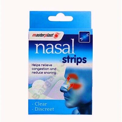 Drug-Free Nasal Strips Stop Snoring Great Anti Snore Sleeping Aid Clear Discreet