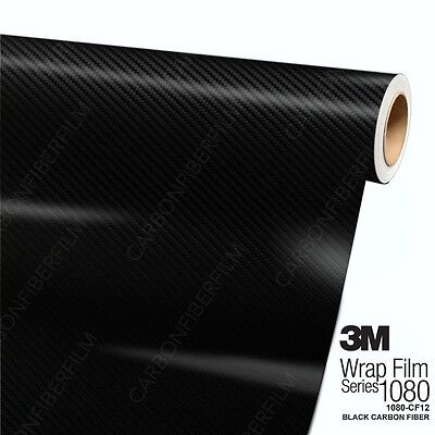 3M 1080 CF12 BLACK CARBON FIBER Vinyl Vehicle Car Wrap Film Decal Roll Sticker