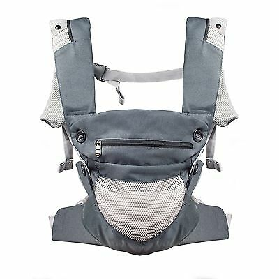Breathable Ergonomic Carrier For Toddlers Newborn Infant Backpack Sling GREAY