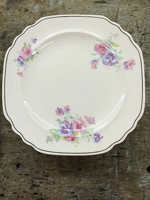 6 Dinner Plates Glo Peche Limoges Sebring Ohio The Pansy 4M133 Shell Pink Lot2