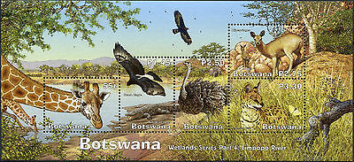 Botswana. 2003. Botswana Wetlands Series Part 4: Limpopo River (MNH OG) S/S