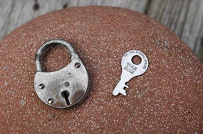 Vintage Miniature Padlock with one key, working order, hobby, collector