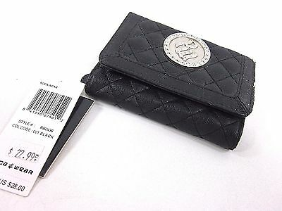 Rocawear, Women's, Tri Fold Wallet, Black, Style# Rb2436, New With Defect