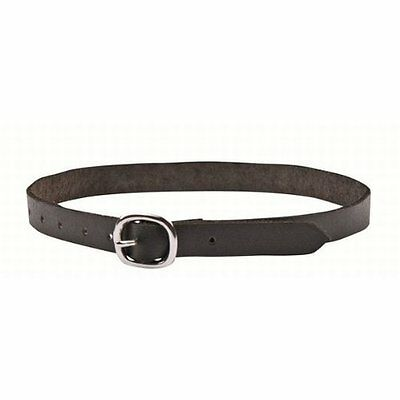 HKM Black leather spur straps
