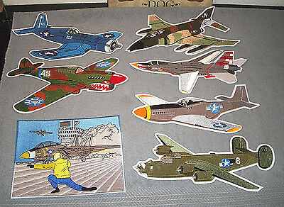 Military Airplane Aircraft Aviation Collectible Patches NEW - MIXED LOT OF 7