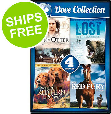 4-Movie Dove Collection (DVD, 2016) NEW, Sign Otter, Lost Barrens, Red Fern Fury