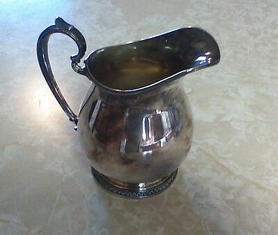 "Electro Plate On Nickel Silver Creamer Pitcher  ( C87 ) 4"" Tall"