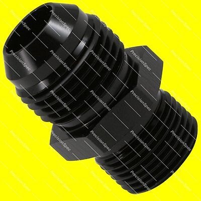 AN10 Aluminium Straight Male Flare to M20x1.5 Metric Fitting Adapter - Black