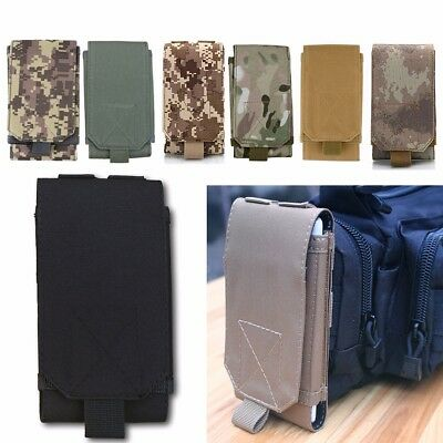 Universal Outdoor Molle Army Tactical Mobile Phone Pouch Holster Case Bag Belt