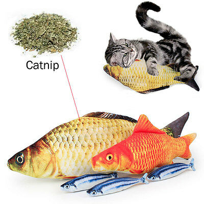 Grass Carp Pet Cat Kitten Fish Shape Interactive Cats Chewing Toys Play Fun Toy