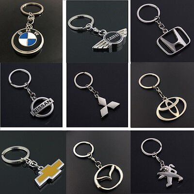 Hot Auto Car Logo Key Chain Ring Pendant Keychain Keyfob Metal Keyring Hold
