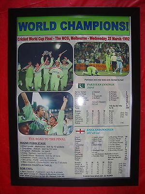 Pakistan 1992 ICC Cricket World Cup winners - framed print