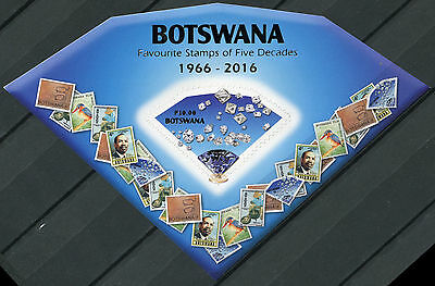 Botswana. 2016. Favourite Stamps of Five Decades (MNH OG) Souvenir Sheet