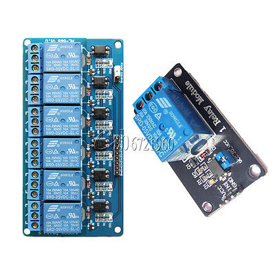 1/6 Channel 5V Relay Board Module Optocoupler LED for Arduino PiC ARM AVRC