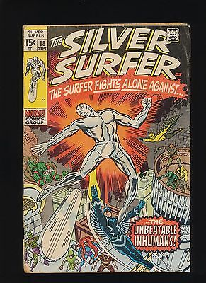 Silver Surfer #18! Marvel Comics 1970! SEE PICS AND SCANS! KEY BOOK! WOW! RARE!