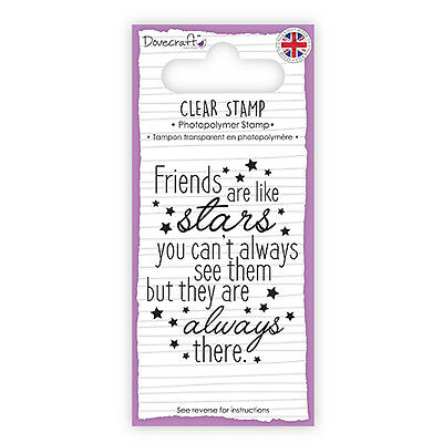 Dovecraft Clear Stamp Friends are Like Stars -  Cards Scrapbooking